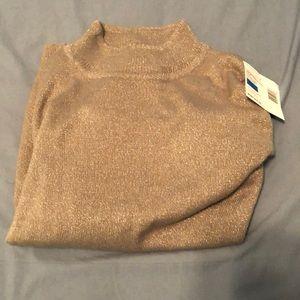 Sag Harbor mock turtleneck sweater
